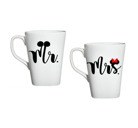 His And Her Disney Mugs, Mr And Mrs Mugs, Mickey And Minnie Mugs