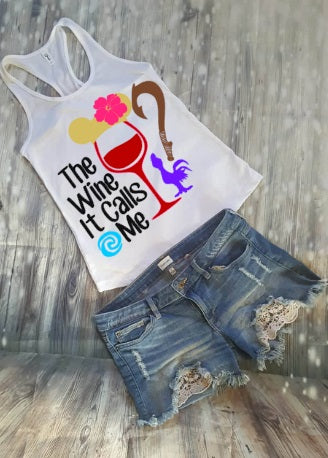 The Wine It Calls Me Moana Food And Wine Festival Tank Top