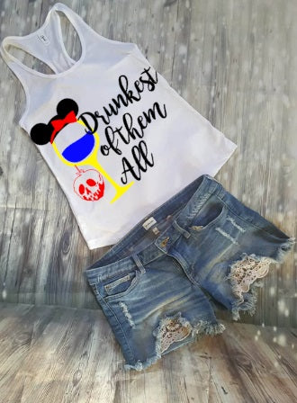 Drunkest Of Them All Snow White Food And Wine Festival Tank Top