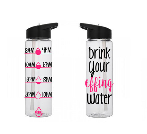 Motivational Water Bottle, Personalized Water Bottle, Water Tracking Bottle