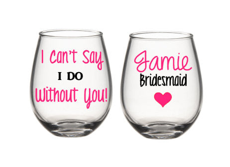 Will You Be My Bridesmaid Wine Glasses, Bridesmaid Wine Glasses