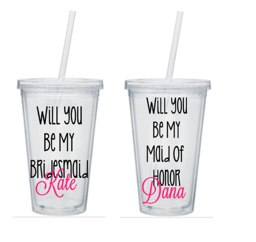 Bridesmaid Cups, Bridesmaid Tumblers, Personalized Bridesmaid Tumblers, Bridesmaid Gift, Bridesmaid Tumblers