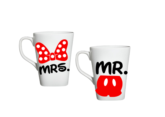 Mr And Mrs Mugs, His And Her Disney Mugs