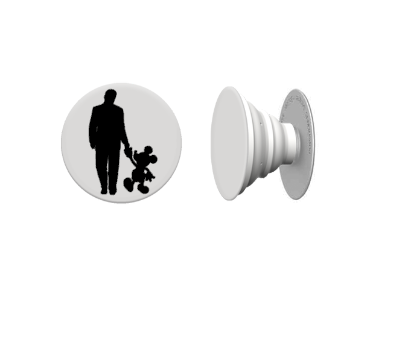 Walt And Mickey Disney Decal for Pop Up Cell Phone Holder