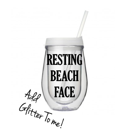 Resting Beach Face To Go Tumbler