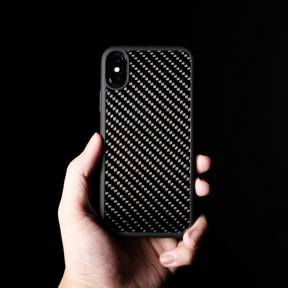 Bare Back Minimalist Carbon Fibre Back Case for iPhone X