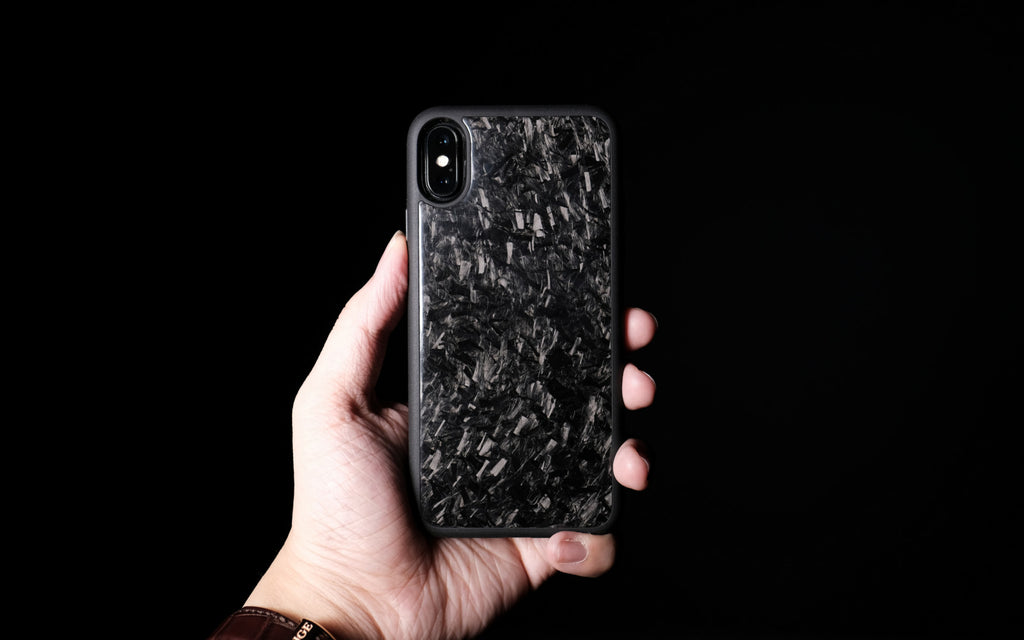 Bare Back Minimalist Forged Carbon Back Case for iPhone X - No Birthmarks