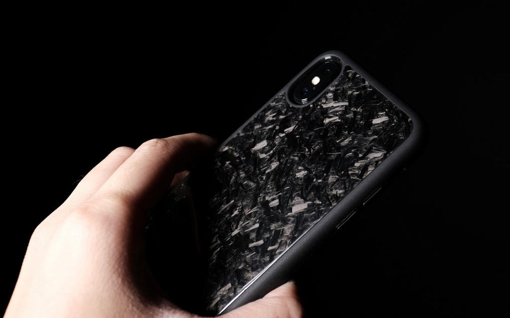 Bare Back Minimalist Forged Carbon Back Case for iPhone X - Sight to Behold