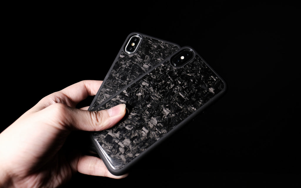 Bare Back Minimalist Forged Carbon Back Case for iPhone X - Truly Unique