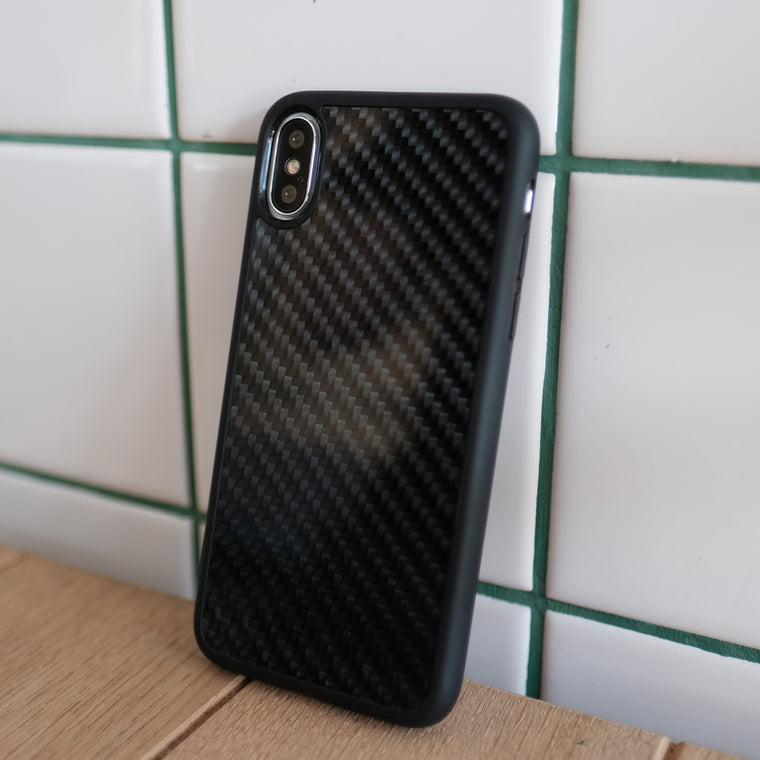 Bare Back Minimlist Carbon Fibre Back Case for iPhone X - 3