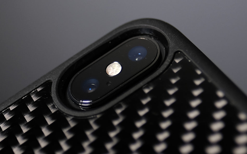Bare Back Minimlist Carbon Fibre Back Case for iPhone X - Camera Cutout