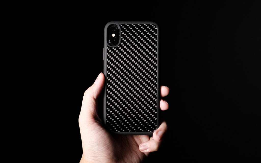 Bare Back Minimalist Carbon Fibre Back Case for iPhone X - Branding-Free