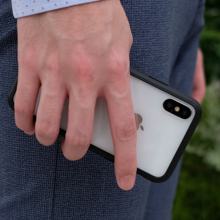 Bare Back Minimlist Glass Back Case for iPhone X - Frost in Hand