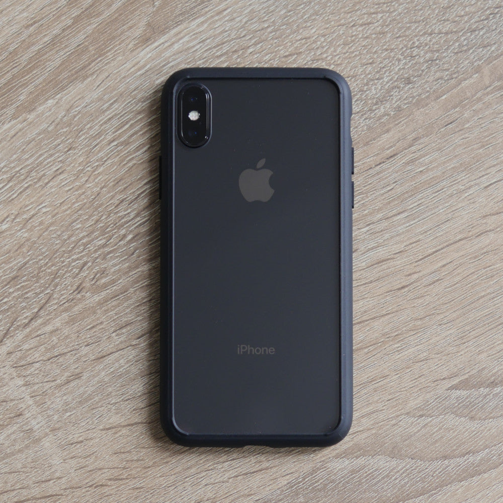 Bare Back Minimalist Glass Back Case for iPhone X