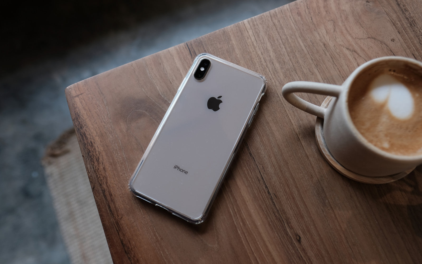 Bare Back Minimlist Shock Resistant Case with a Clear Glass Back for iPhone XS and XS Max - Branding-Free