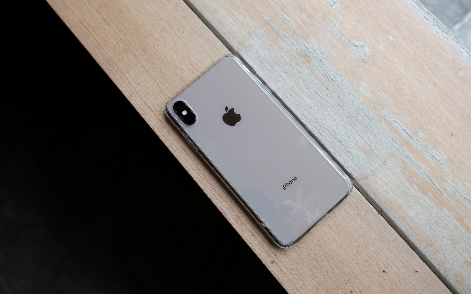 Bare Back Minimlist Shock Resistant Case with a Clear Glass Back for iPhone XS and XS Max - Optical Clarity