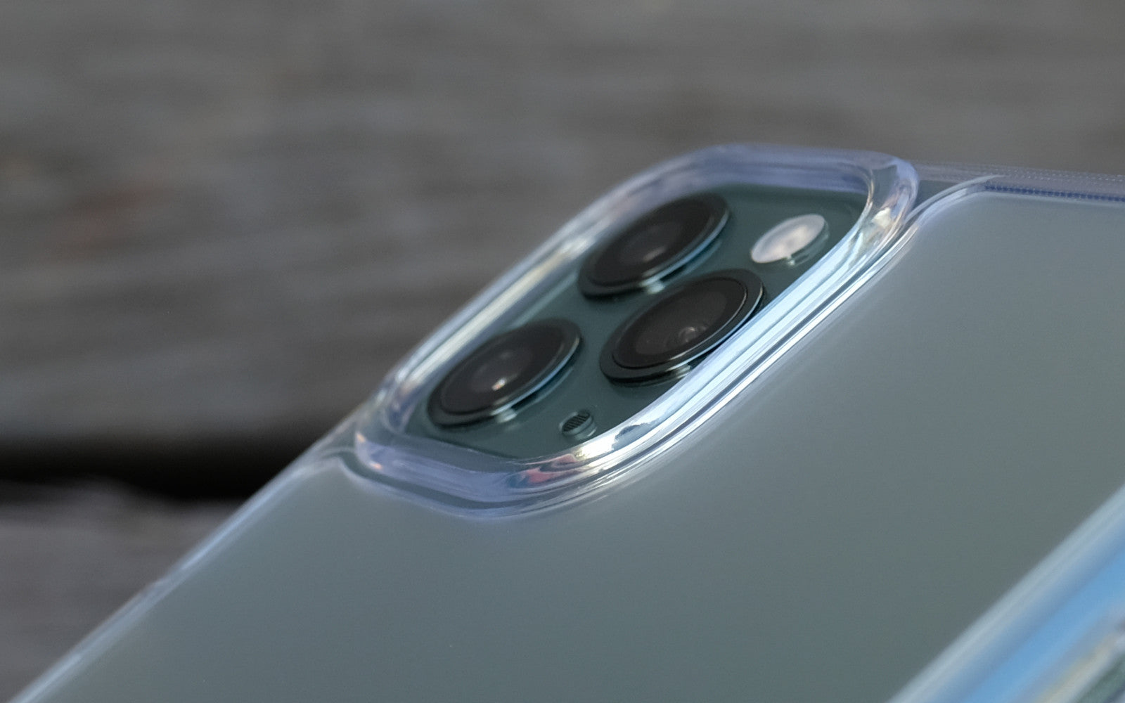 Bare Back Minimlist Shock Resistant Case with a Frosted Glass Back for iPhone 11 Pro and 11 Pro Max - Camera Lip