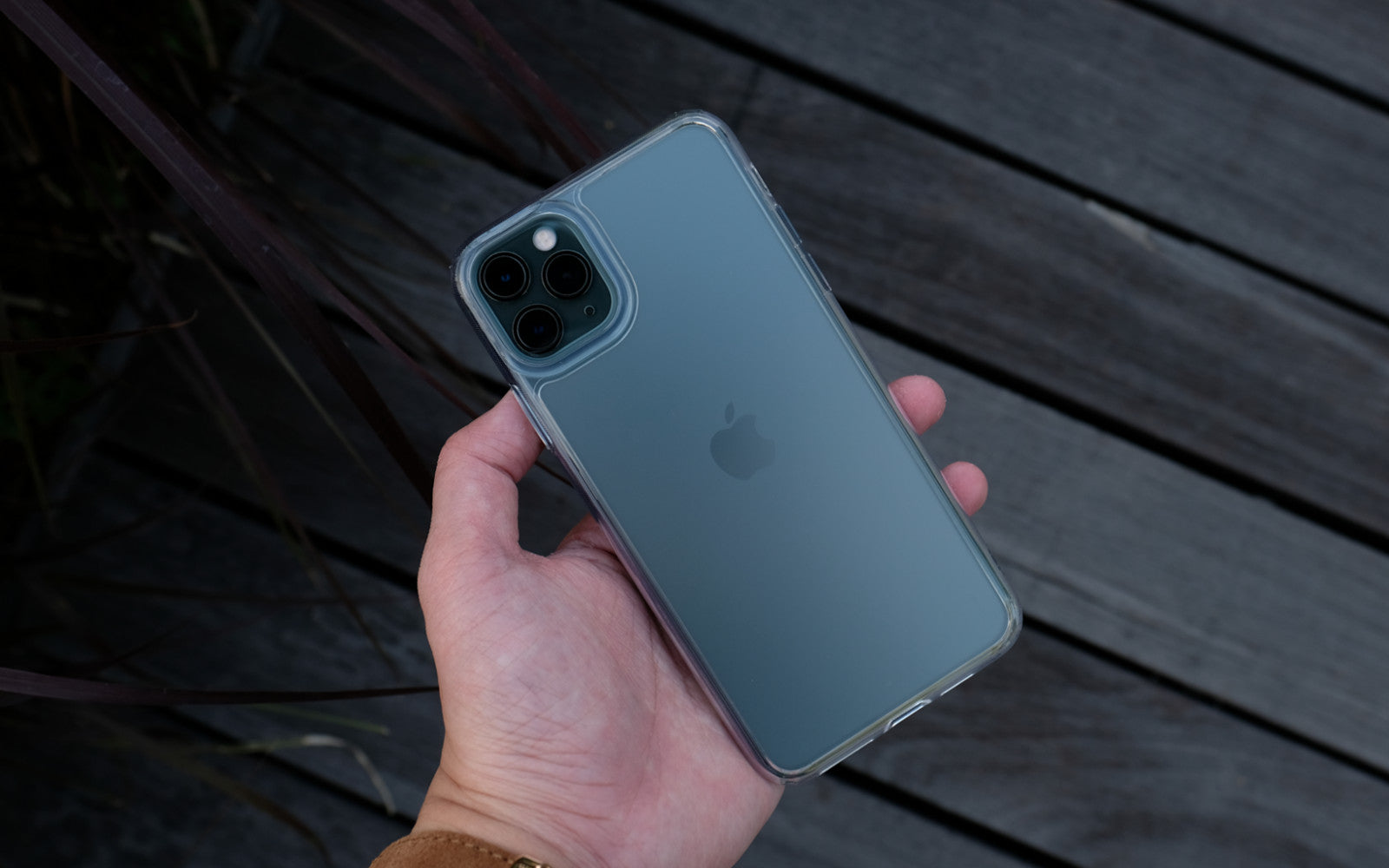 Bare Back Minimlist Shock Resistant Case with a Frosted Glass Back for iPhone 11 Pro and 11 Pro Max - Branding-Free