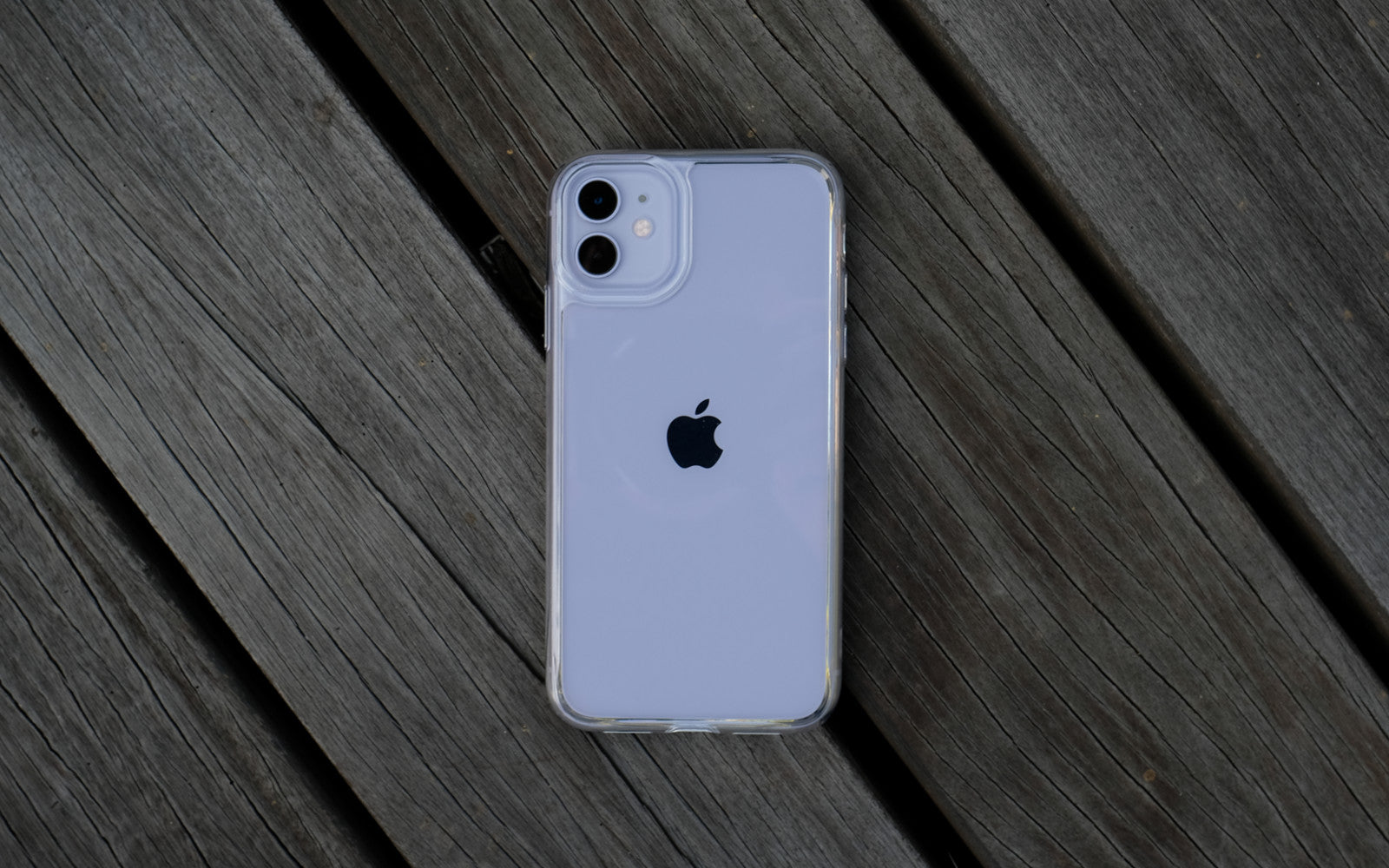 Bare Back Minimlist Shock Resistant Case with a Glass Back for iPhone 11 - Branding-Free
