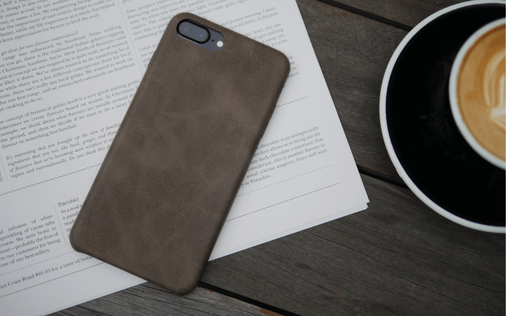 Bare Skin - Shock-resistant Leather iPhone Case