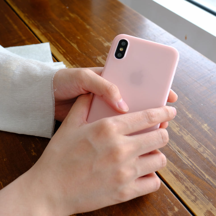 Bare Naked EX Thinnest Clear Case for iPhone X - Cotton Candy in Hand - 2