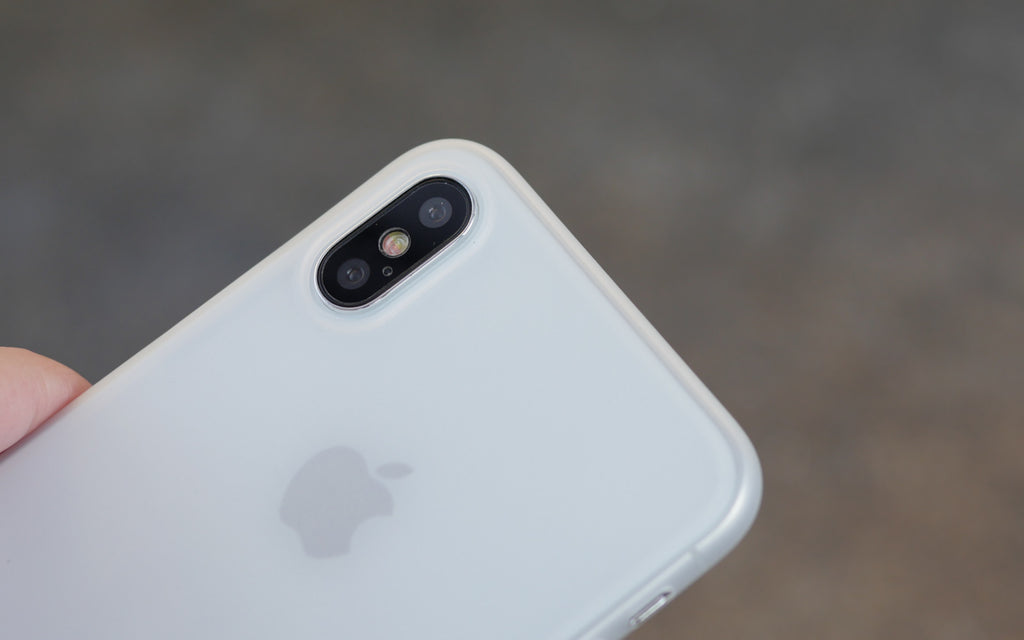 Bare Naked Ultra Thin Case for Apple iPhone X - Camera Cutout White