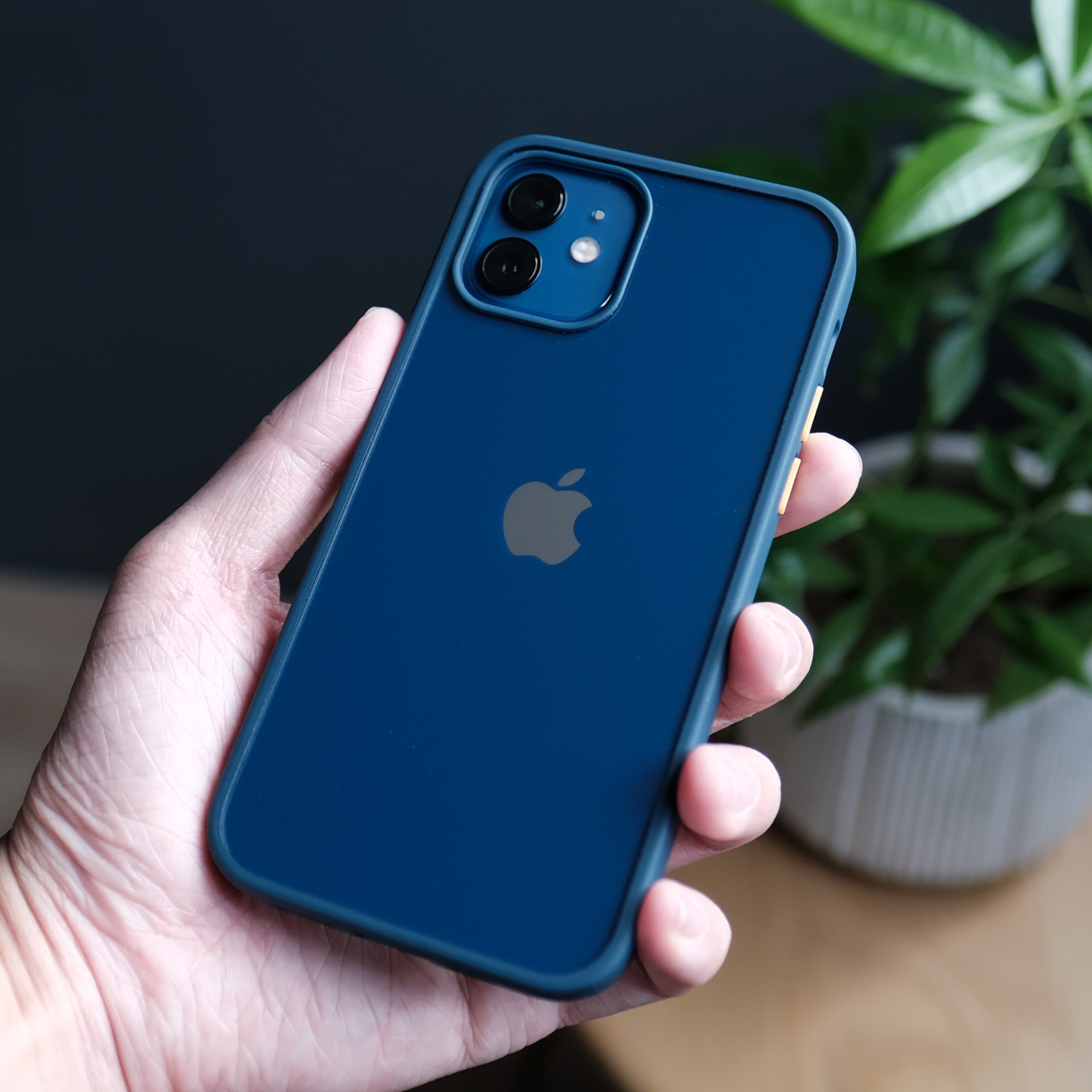 Bare Armour - Minimalist Shock Resistant Case for iPhone 12 and iPhone 12 mini - Blue