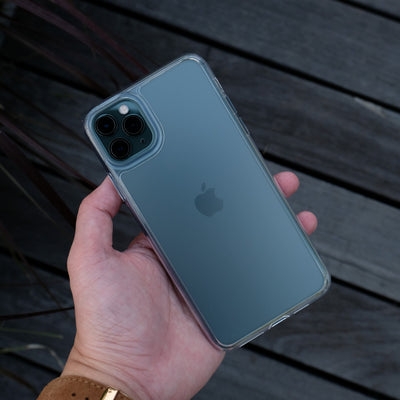 Bare Back Minimlist Shock Resistant Case with a Frosted Glass Back for iPhone 11 Pro and 11 Pro Max