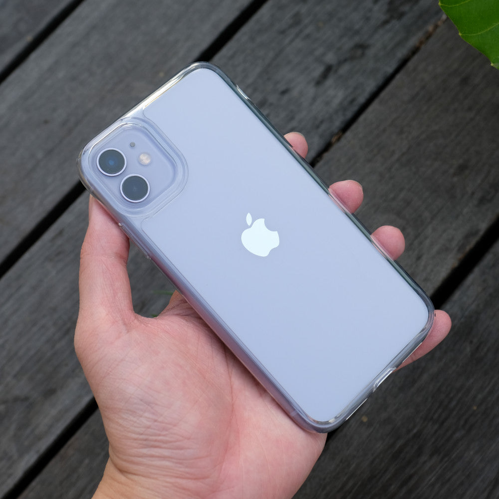 Bare Back Minimlist Shock Resistant Case with a Glass Back for iPhone 11