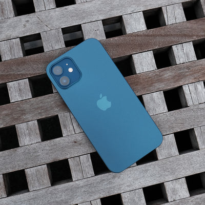 Bare Naked Ultra Thin Case for iPhone 12 and iPhone 12 mini -  Pacific Blue