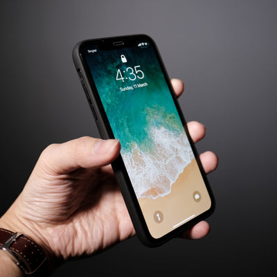 Bare Back Minimlist Carbon Fibre Back Case for iPhone X - Seamless Design