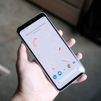 Bare Naked - Thinnest Case for Google Pixel 4 and 4 XL - Frost in Hand
