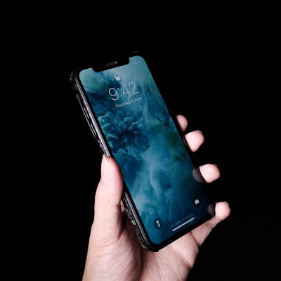 Bare Naked Carbon - Ultra Thin Forged Carbon Fiber Case for iPhone X XS XS Max - Front