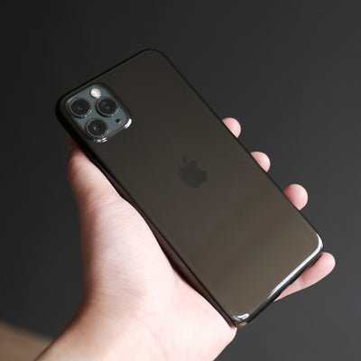 Bare Naked EX - Thinnest Clear Case for iPhone 11 Pro Max - Onyx in Hand