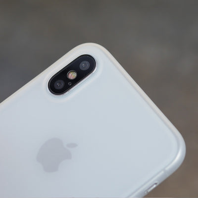 Bare Naked Ultra Thin Case for iPhone X - Camera Cutout White