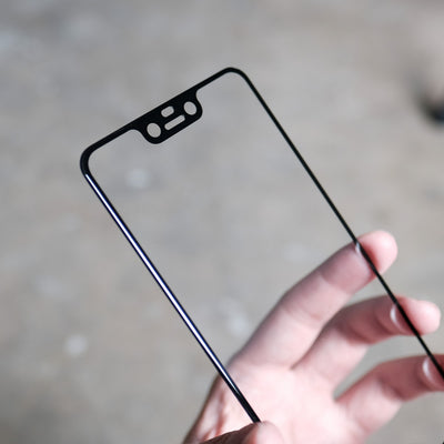 Bare Pane - Full-Coverage Tempered Glass Screen Protector with Full Adhesive for Google Pixel 3 XL