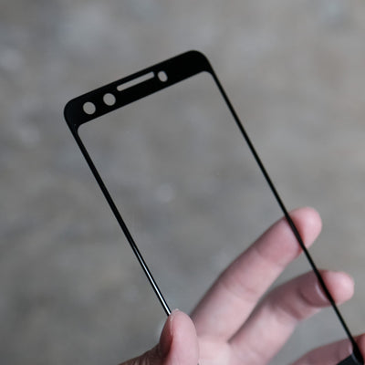 Bare Pane - Full-Coverage Tempered Glass Screen Protector with Full Adhesive for Google Pixel 3