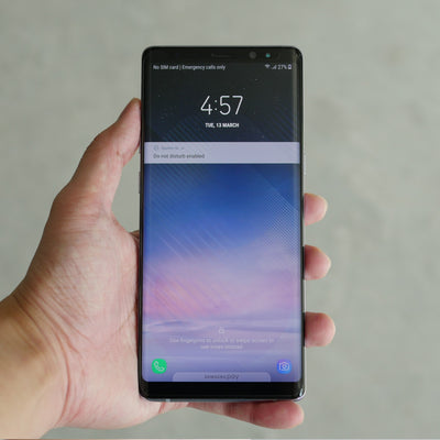 Bare Pane - Full-Coverage Tempered Glass Screen Protector with Full Adhesive for Samsung Galaxy Note 9 - Crystal Clear