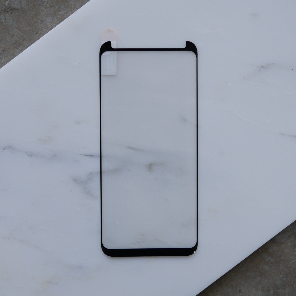 Bare Pane - Full-Coverage Tempered Glass Screen Protector with Full Adhesive for Samsung Galaxy S9