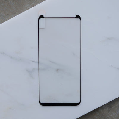 Bare Pane - Full-Coverage Tempered Glass Screen Protector with Full Adhesive for Samsung Galaxy S8 Plus