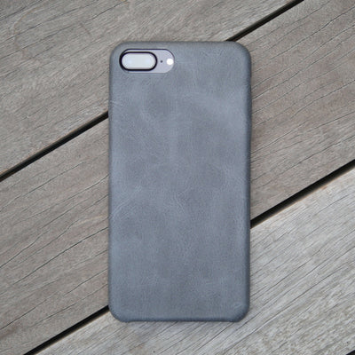 Bare Skin - Shock-resistant Leather iPhone Case - Coal