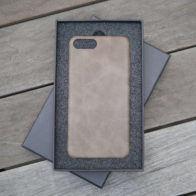 Bare Skin - Shock-resistant Leather iPhone Case - Mocha