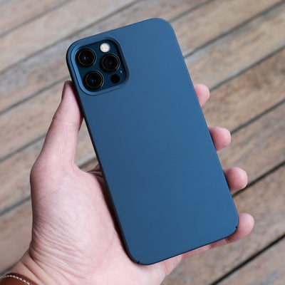 The Bare Case - Ultra Thin MagSafe Case for iPhone 12 Pro and iPhone 12 Pro Max - Pacific Blue