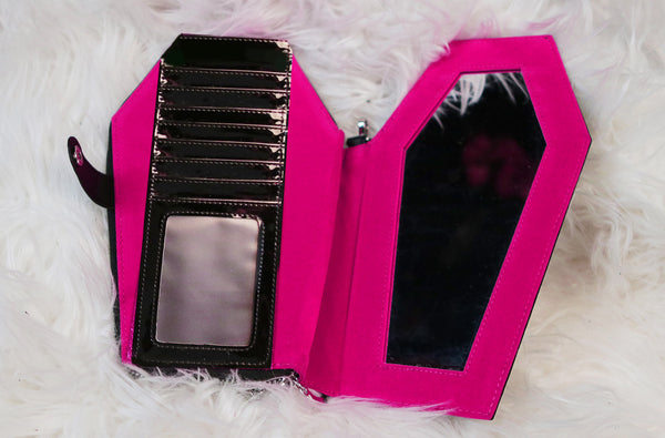 Why The Death Candy wallet will no longer have glitter pink patent.