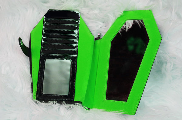 Death Candy Coffin wallets released in GREEN, RED & BLACK!!!