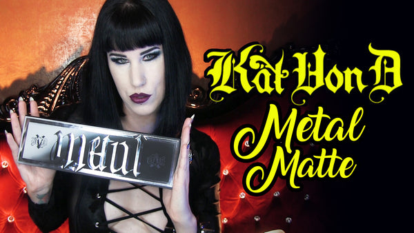 Kat Von D Metal Matte Palette Review + Makeup Swatches | Avelina De Moray