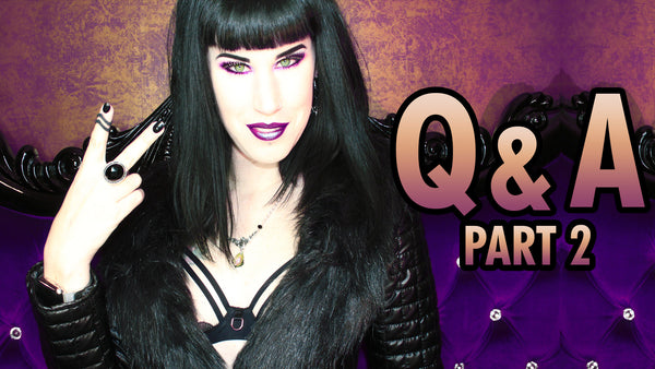 Q & A - Part 2: Vampires, Being A Mum & My Music