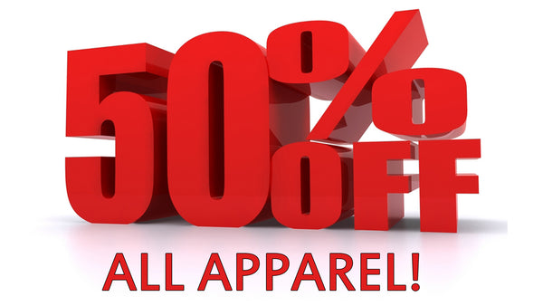 50% OFF clothing sale! Ends Wednesday 13th of Feb.