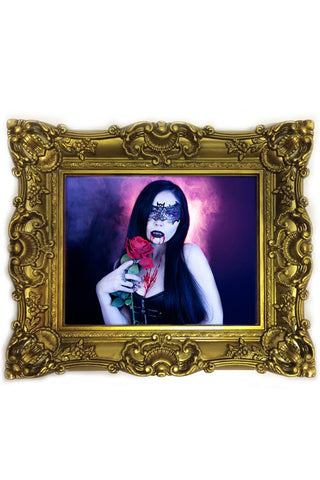 ReeRee Phillips framed artwork - Vampire Kiss