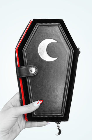 Death Candy *Oversized* Coffin Wallet RED